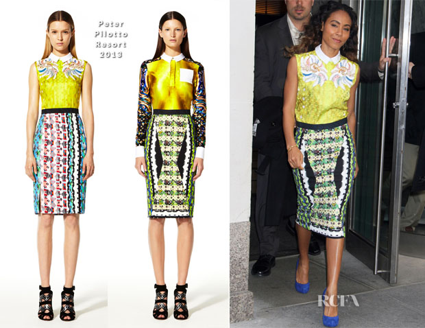 Jada Pinkett-Smith In Peter Pilotto - Out In New York City