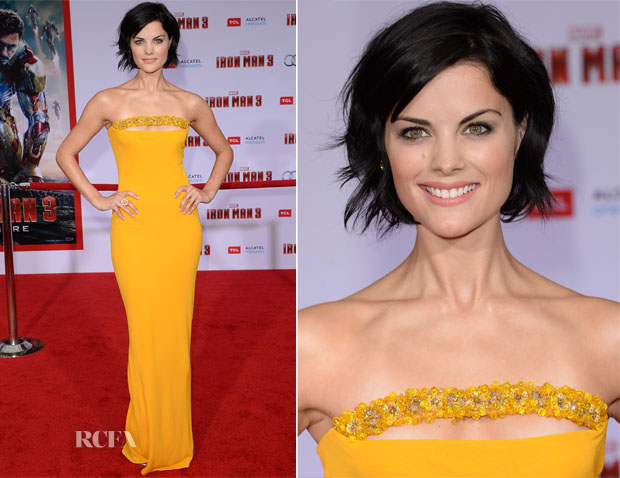 Jaimie Alexander In Marc Bouwer - 'Iron Man 3' LA Premiere