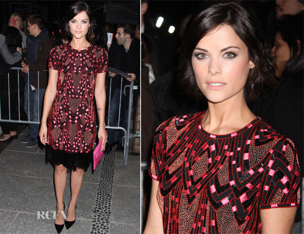 Jaimie Alexander In Naeem Khan - 'Pain and Gain' New York Premiere
