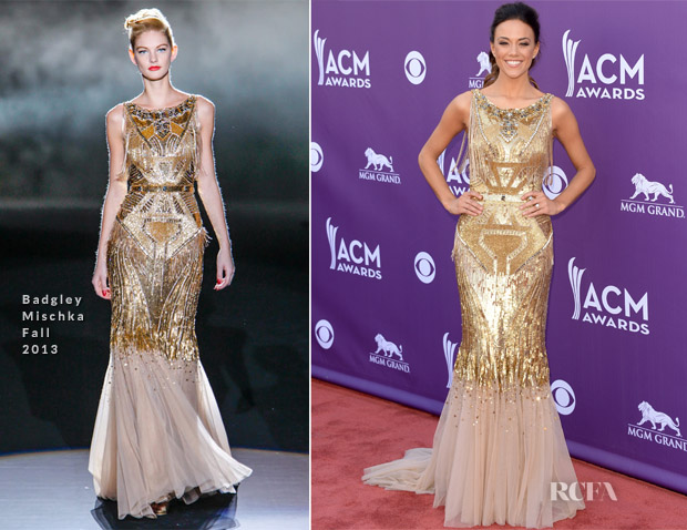Jana Kramer In Badgley Mischka - 2013 ACM Awards