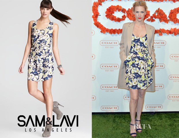 January Jones' Sam & Lavi Clementine Blue Bell Dress
