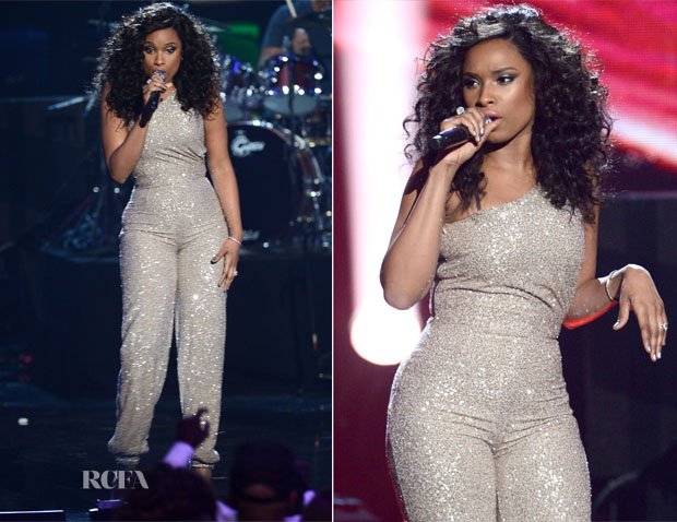 Jennifer Hudson In Pamella Roland - 28th Annual Rock And Roll Hall Of Fame Induction Ceremony