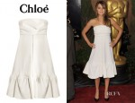 Jennifer Lawrence's Chloé Quilted Flower Jacquard Dress