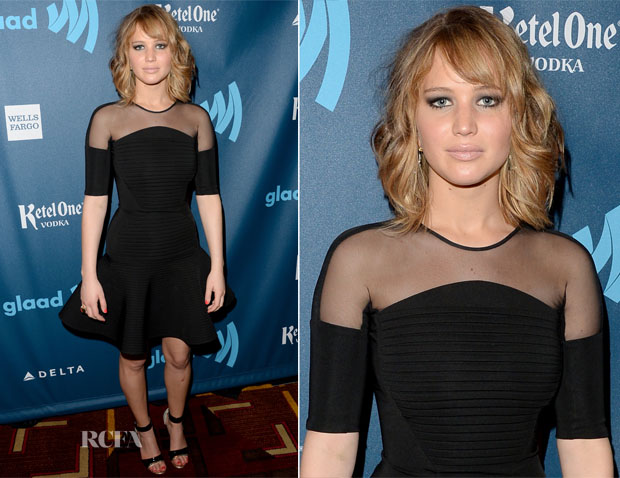Jennifer Lawrence In David Koma - 24th Annual GLAAD Media Awards