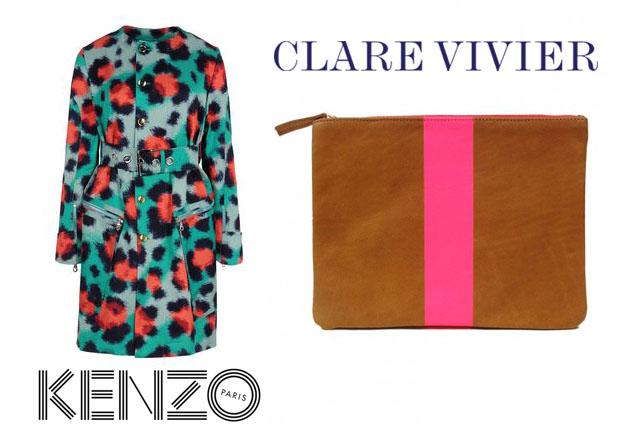 Jessica Alba In Kenzo & Claire Vivier