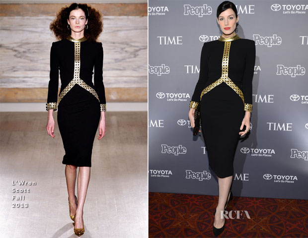 Jessica Pare In L'Wren Scott - People Time Party