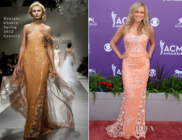 Jewel In Georges Chakra Couture - 2013 ACM Awards