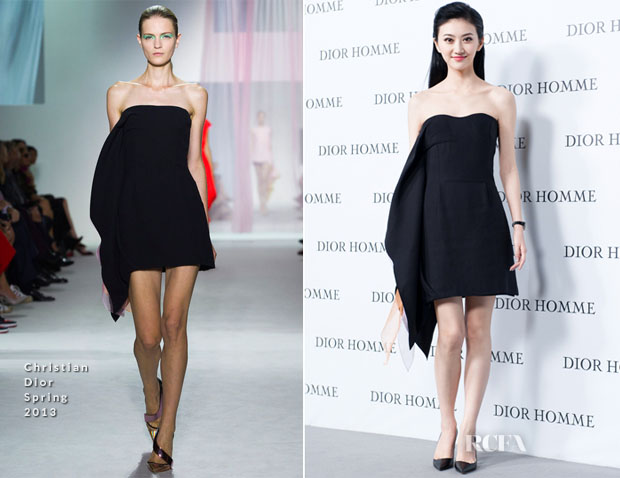 Jing Tian In Christian Dior - Dior Homme Fall Winter 2013 Menswear Collection Show