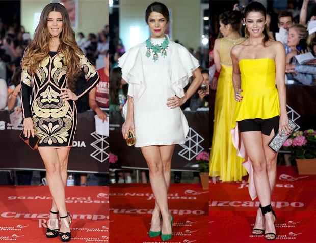 Juana Acosta In Herve Leger, Gucci & Christian Dior - 2013 Malaga Film Festival