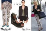 Julianne Hough's Madewell Skinny Jeans, Matt Bernson 'Westport' Wedge & IRO Biker Jacket