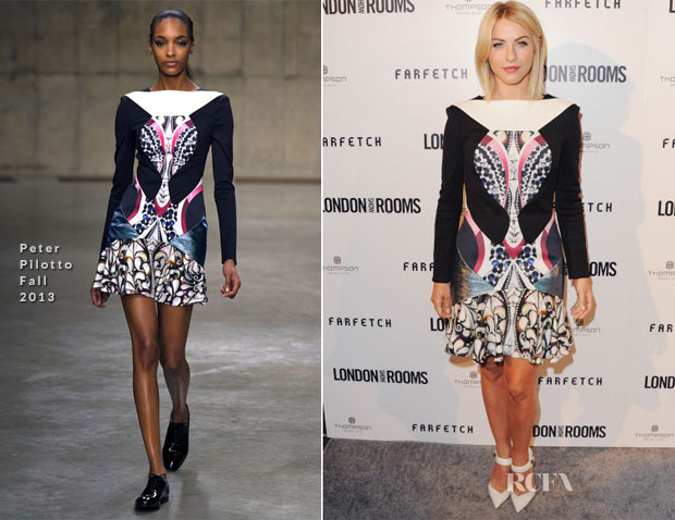 Julianne Hough In Peter Pilotto - London Show Rooms LA
