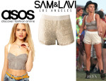 Julianne Hough's ASOS Bralet And Sam&Lavi 'Blanche' Lace Shorts