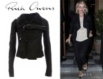 Julianne Hough's Rick Owens Leather Jacket