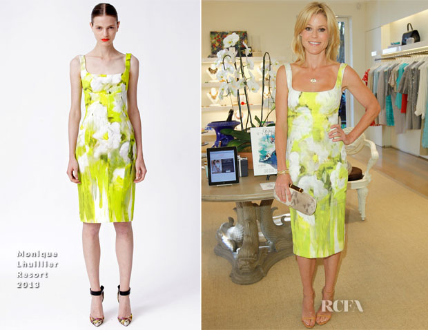 Julie Bowen In Monique Lhuillier -  Oscar de la Renta and Kelly Florio Kasouf Spring 2013 Shopping Event