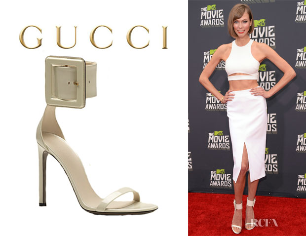 Karlie Kloss' Gucci Buckled Leather Sandals
