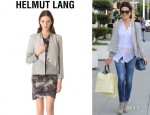 Kate Beckinsale's Helmut Lang Warped Combo Jacket