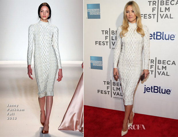 Kate Hudson In Jenny Packham - 'Reluctant Fundamentalist' Tribeca Film Festival Premiere