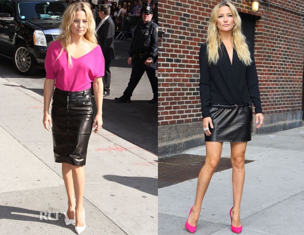 Kate Hudson In Michael Kors & Barbara Bui - Late Show With David Letterman