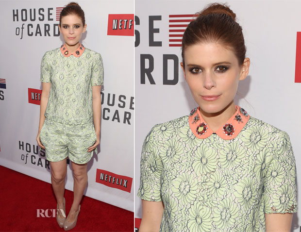Kate Mara In Mulberry - Netflix's 'House of Cards' For Your Consideration Q&A