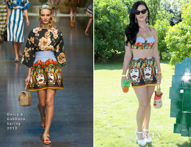 Katy Perry In Dolce & Gabbana - Lacoste L!ve 4th Annual Desert Pool Party