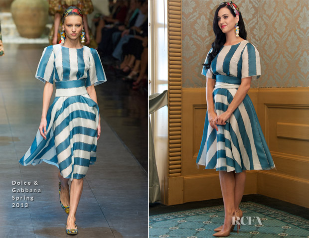 Katy Perry In Dolce & Gabbana - 'The Smurfs 2' Press Conference