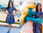 Katy Perry In Monique Lhuillier - 'The Smurfs 2' Cancun Photocall