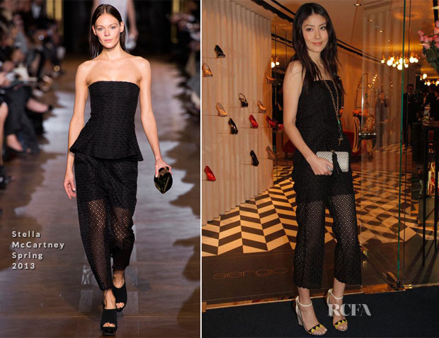Kelly Chen In Stella McCartney - Sergio Rossi Hong Kong Store Opening