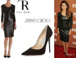Keri Russell's The Row 'Quanry' Dress And Jimmy Choo 'Anouk' Pumps
