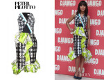 Kerry Washington's Peter Pilotto Lara Ruffled Print Dress