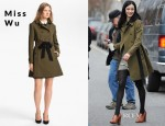 Krysten Ritter's Miss Wu Belted Cotton Trench Coat
