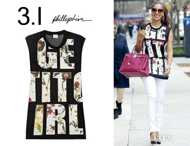 La La Anthony's 3.1 Phillip Lim 'Get It Girl' Top