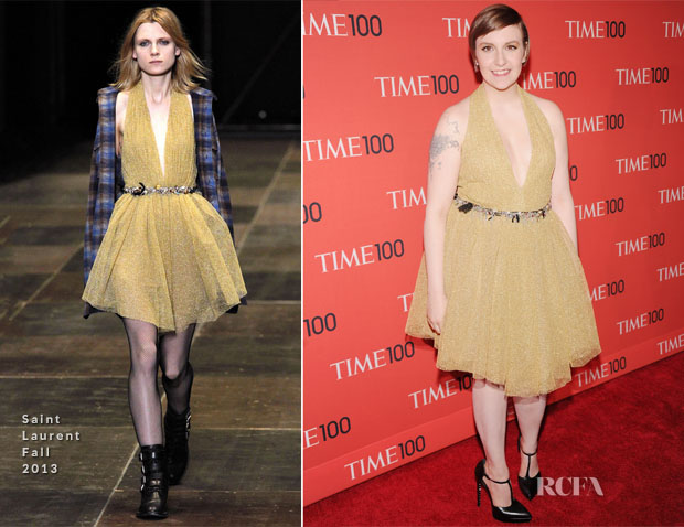 Lena Dunham In Saint Laurent - 2013 Time 100 Gala