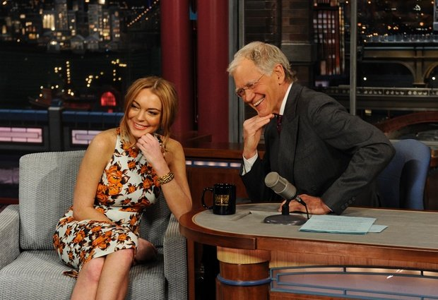 Lindsay Lohan-late-with-david-letterman