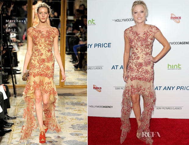 Maika Monroe In Marchesa - 'At Any Price' LA Premiere