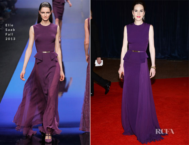 Michelle Dockery In Elie Saab - 2013 White House Correspondents' Association