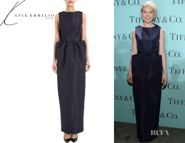 Michelle Williams' Katie Ermilio Bow Back Gown1