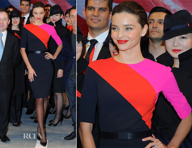 Miranda Kerr Unviels The New Martin Grant Designed Qantas Uniform