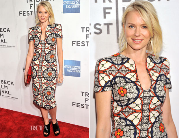 Naomi Watts In Alexander McQueen - 'Sunlight Jr' Tribeca Film Festival Premiere
