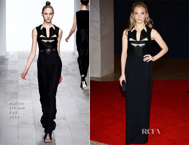 Natalie Dormer In Marios Schwab - 2013 White House Correspondents' Association