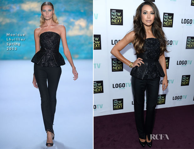 Naya Rivera In Monique Lhuillier - 2013 NewNowNext Awards