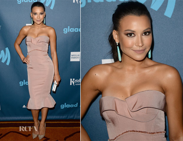 Naya Rivera In Zac Posen - 24th Annual GLAAD Media Awards