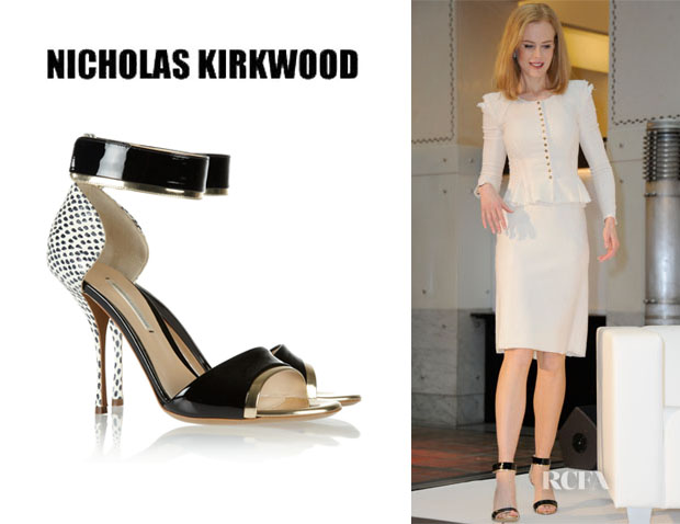 Nicole Kidman's Nicholas Kirkwood Elaphe, Patent Leather Sandals