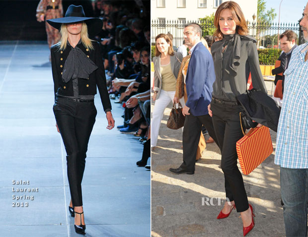 Nieves Alvarez In Saint Laurent - 'Feria de Sevilla' Bull Fight