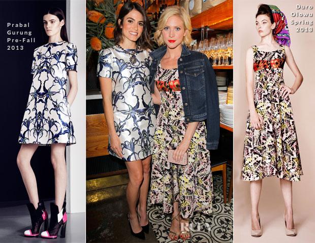 Nikki Reed In Prabal Gurung & Brittany Snow In Duro Olowu - Vogue 'Triple Threats' Dinner