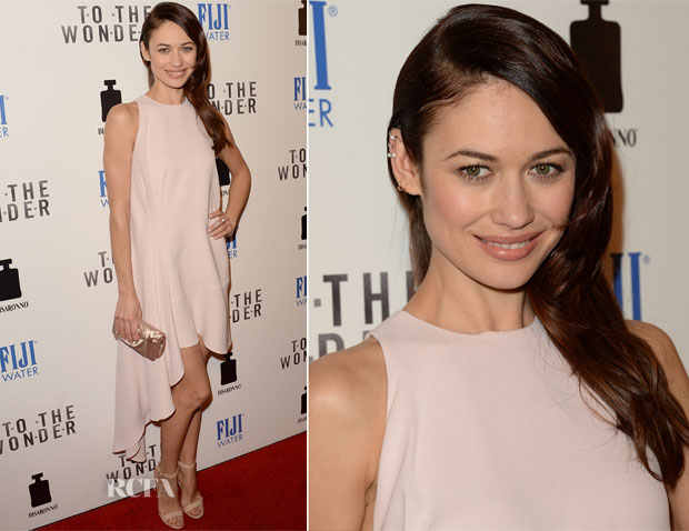 Olga Kurylenko In Christian Dior - 'To The Wonder' LA Premiere