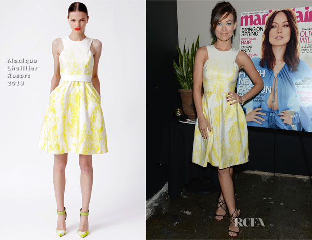 Olivia Wilde In Monique Lhuillier - Marie Claire Honors Olivia Wilde And Her April Cover