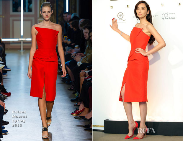 Pace Wu In Roland Mouret - Design Group SpringSummer 2013 Fashion Show