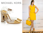Pace Wu's Michael Kors PVC and Leather Pumps