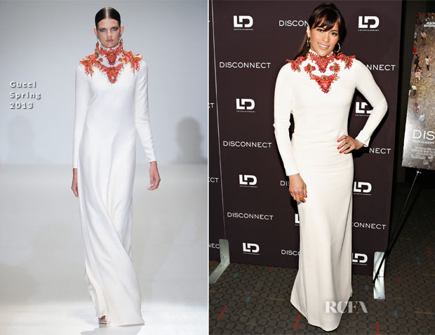 Paula Patton In Gucci - 'Disconnect' New York Special Screening