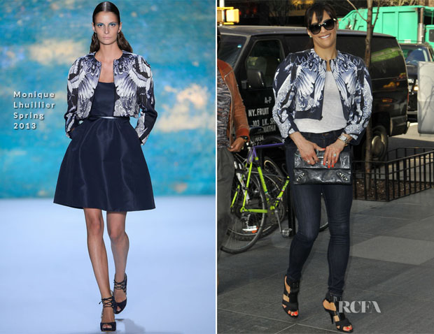 Paula Patton In Monique Lhuillier - Out In New York City